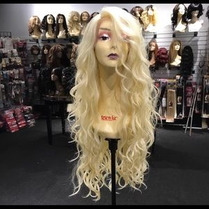 Accessories - Wig Long Blonde Curly Swisslace Lacefront 2019 Wig